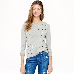 J. Crew Collection Cashmere Tiny-Sequin Sweater